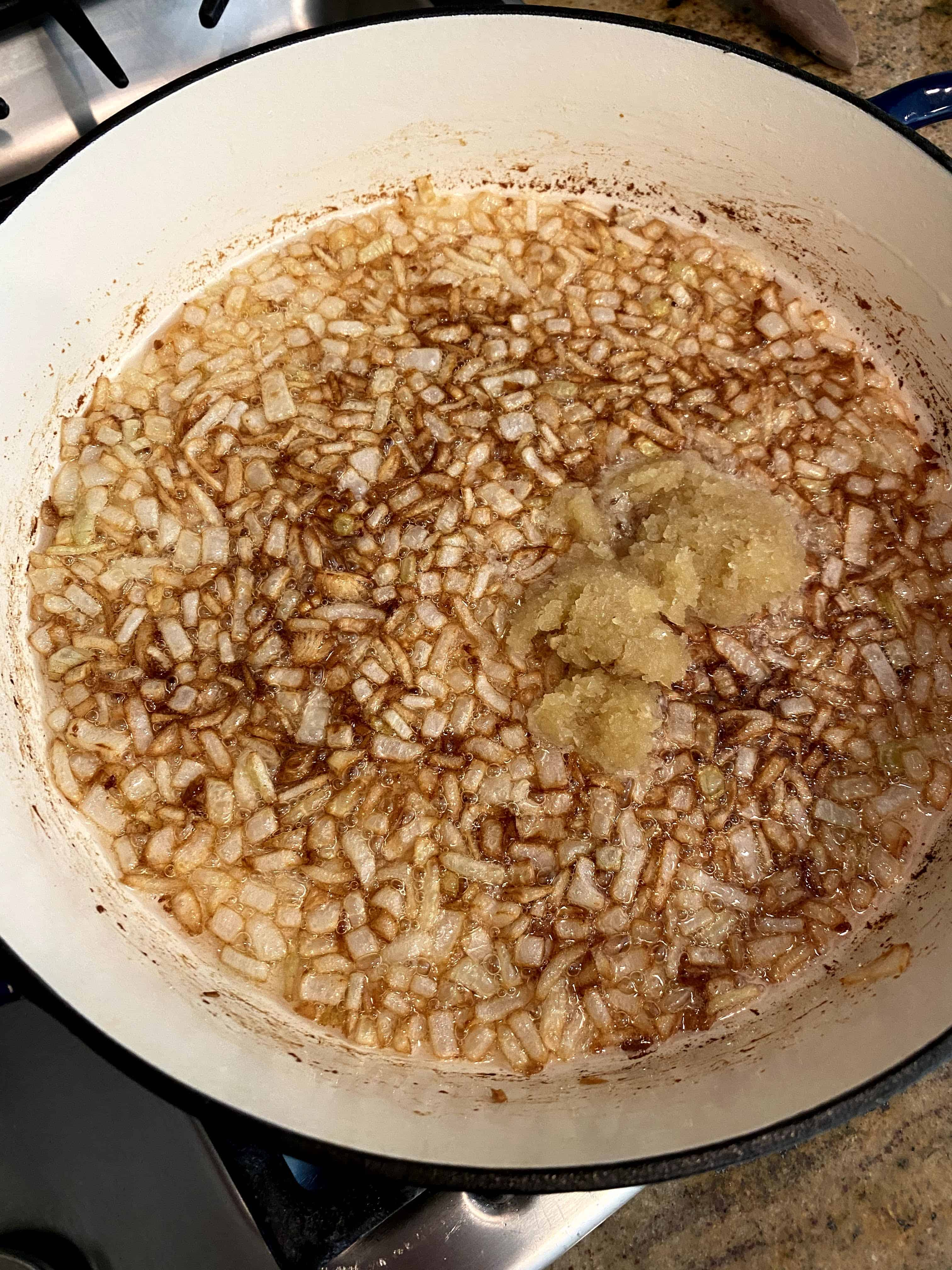 saute onions and garlic