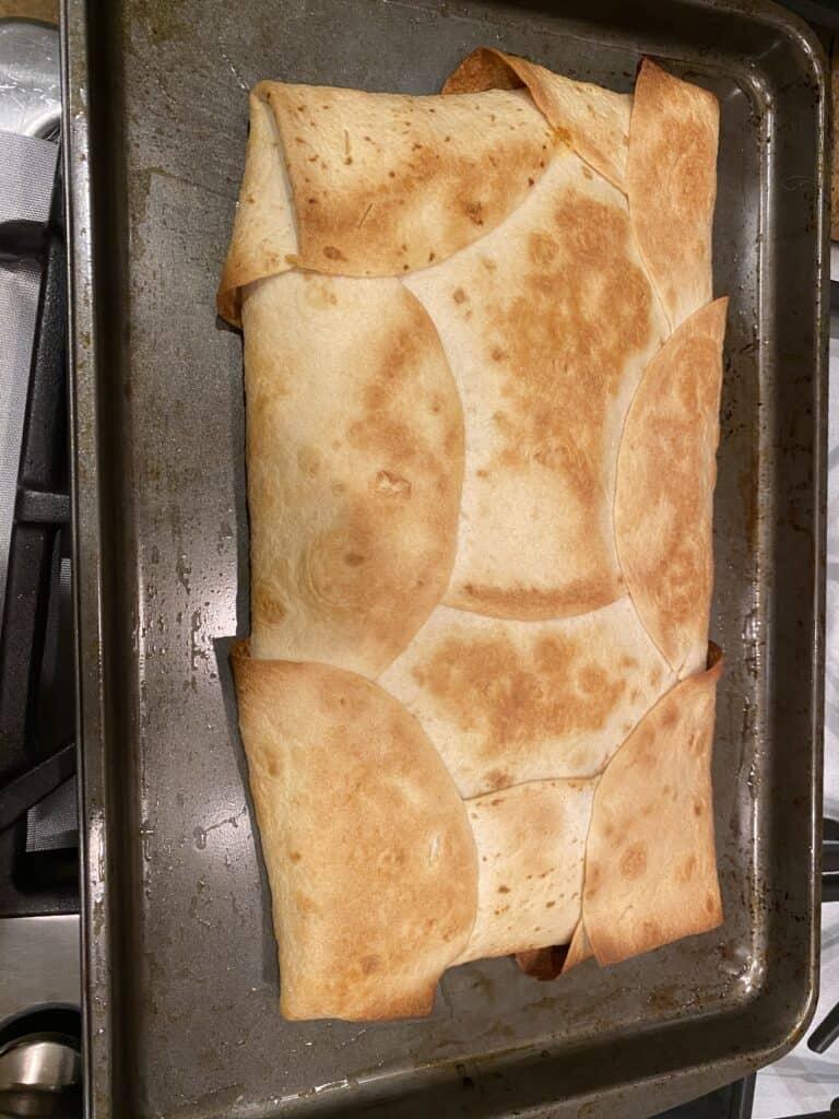 sheet pan chicken quesadillas