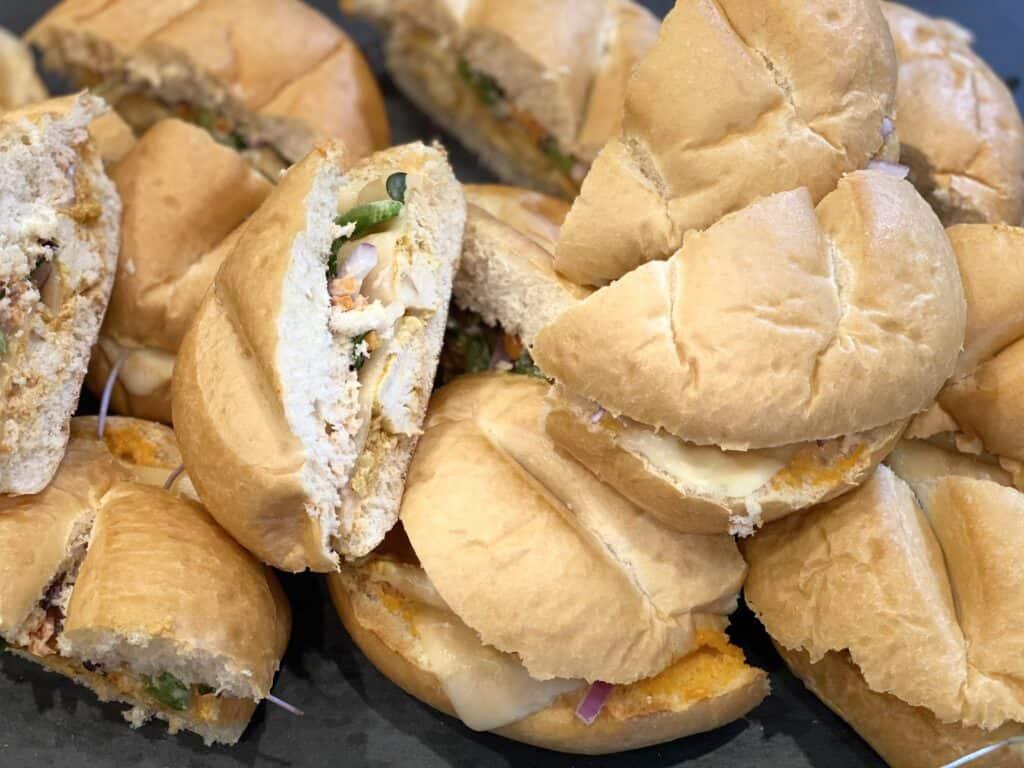easy chicken tikka sandwiches