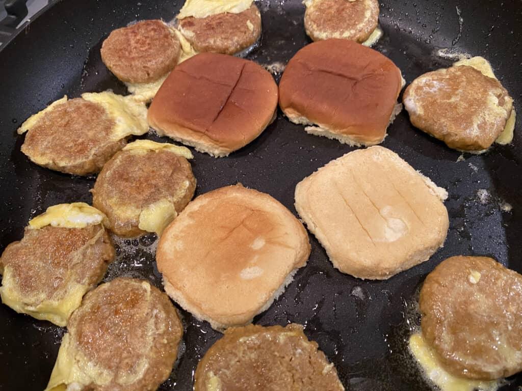 saute the buns