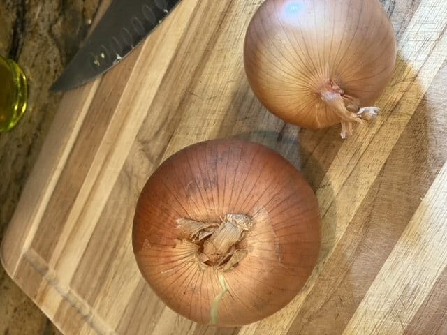 1 large or 2 small onions