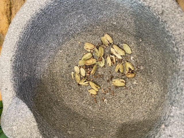 crush the cardamom before adding to the korma