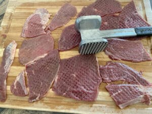 Beef Pasanday tenderizing meat