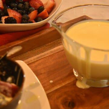 Vanilla Custard Sauce
