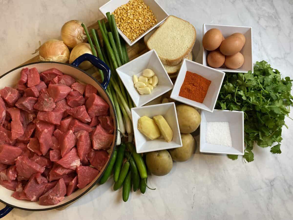 shami kabab ingredients