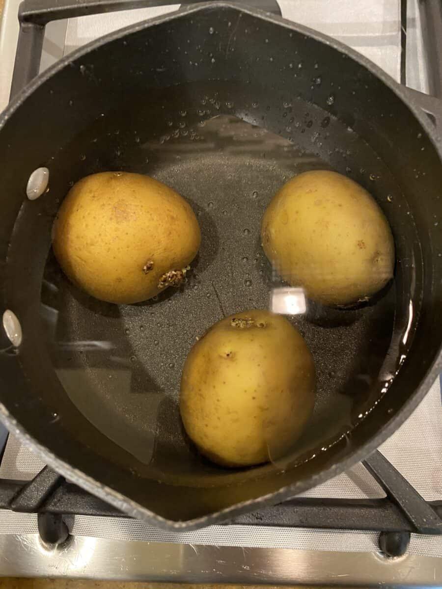 boil the potatoes